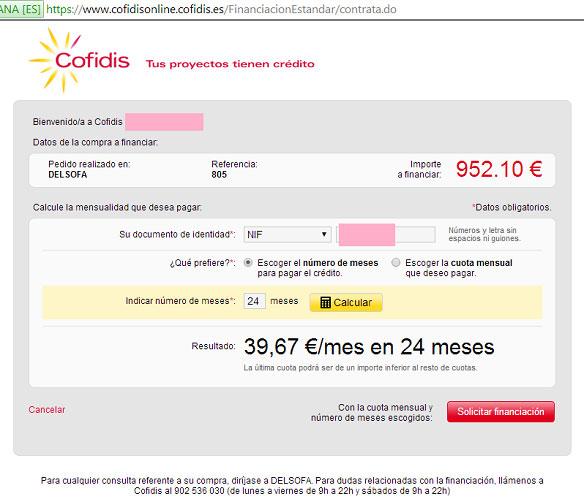 Cofidis-Online-Delsofa.es