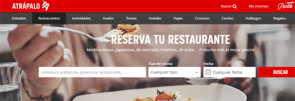 Elegir restaurante Atrápalo
