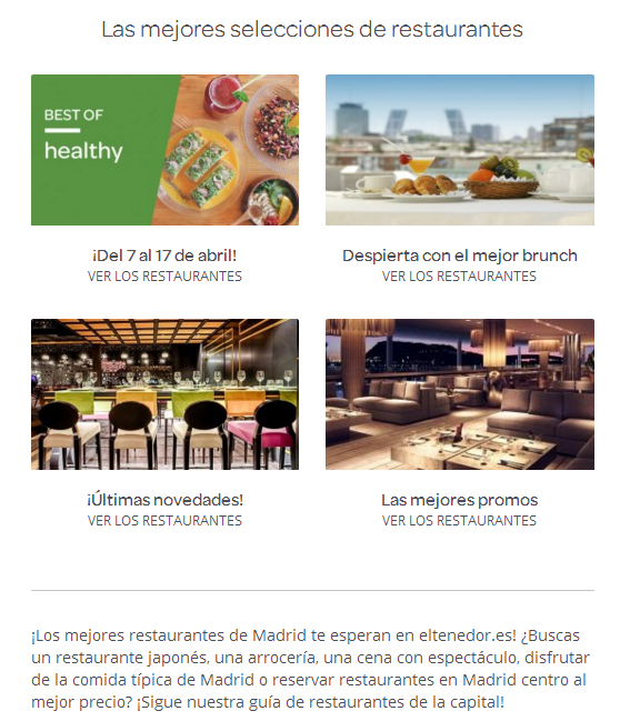Elegir restaurante Eltenedor