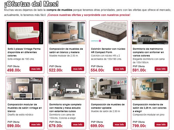 Muebles El Rebajón ofertas mes de febrero