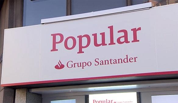 Accionistas del Popular tras la compra por Banco Santander